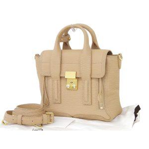 3.1 Phillip Lim Mini Satchel 2way Handbag Shoulder Leather Beige [20180705]
