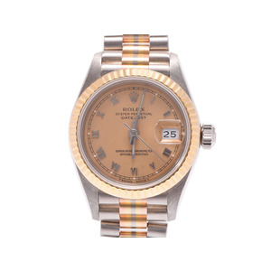 Used Rolex Datejust 69179 Bic Yg / Pg Wg X Number Of Champagne Dial Face Ladies Clock ◇
