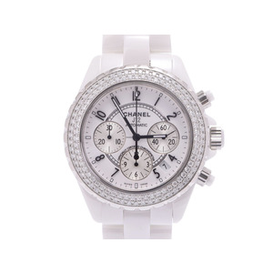 Second-hand Chanel J12 White Ceramic 41 Mm H1008 Chrono Bezel Automatic Winding ◇