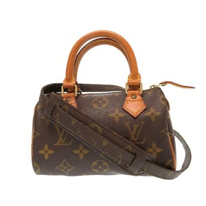 Louis Vuitton Monogram Mini Speedy M41534 Shoulder Handbag 0385