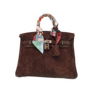 Hermes Birkin 25 Dovie's Handbag With Brown Twillie Scarf □ H Engraved 2004 Manufactured 0338