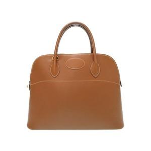 Hermes Boledo 35 Kushubel Gold 〇 Z Engraved Handbag Bag 0580 Women's