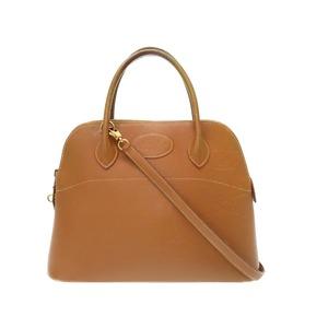 Hermes Boledo 31 Kushuba Gold 〇 Y Engraved Handbag Bag 0474