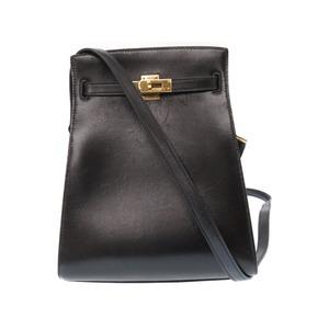 Hermes Kelly Sports Pm Box Calf Black Gold Hardware Shoulder Bag O R Engraved 1988 Vintage 0093