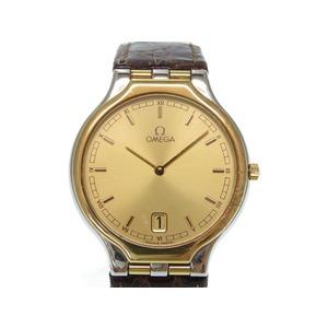 Omega Devil Symbol Quartz Wrist Watch K18yg / Ss Gold Dial 0490 Men's