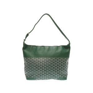 Goyard Grenadine Pvc Leather Green Shoulder Bag 0311