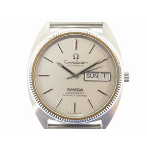 Omega Constellation Gerald Genta Case Day Date Automatic Watch Silver 0607omega Men's