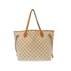 Louis Vuitton Damier Azur Never Full Mm Tote Bag N 51107 Lv 0484