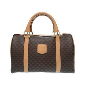 Celine Vacation Vintage Pvc Brown Handbag Bag 0551