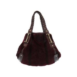Gucci Horse Bit Lapin Leather Bordeaux Tote Bag Womens 0498
