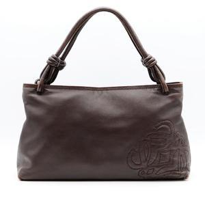 Loewe 050702 Women's Leather Handbag Brown