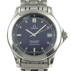 Omega Omega Seamaster Men's Automatic Watch Blue Dial 2501.8 Wrist