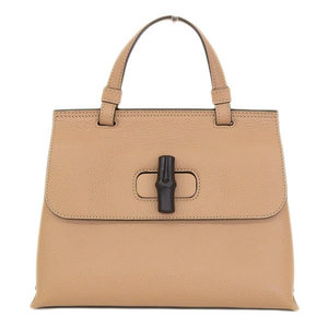 Gucci Gucci Bamboo Daily 2 Way Hand Shoulder Bag Beige 370831