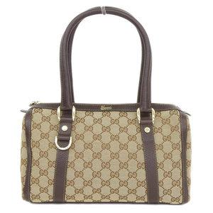 Gucci Gucci Gg Canvas Handbag Beige Brown 130942 Bag