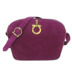 Salvatore Ferragamo Ferragamo Ferragamo Suede Shoulder Bag Purple