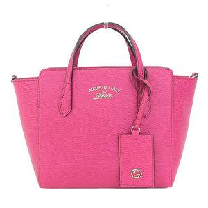 Gucci Gucci Swing Leather 2 Way Handbag Pink 368827 Bag