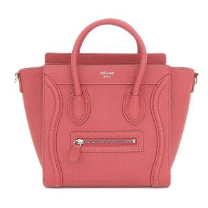 Celine Celine Laggage Nano Shopper 2 Way Hand Shoulder Bag Red