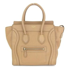 Celine Celine Luggage Micro Shopper Handbag Leather Brown Bag