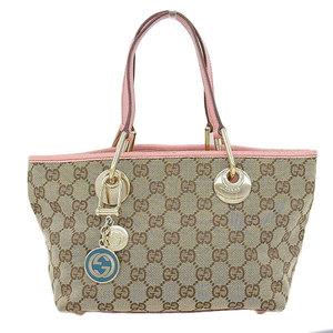 Gucci Gucci Gg Canvas Tote Bag Beige Gold Hardware 120844