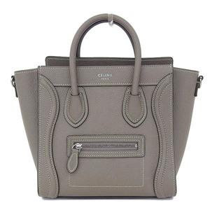 Celine Celine Luggage Nano Shopper 2way Handbag Shoulder Gray 168243 Dru 09 So Bag