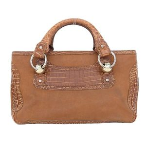 Celine Celine Boogie Bag Embossed Leather Tea Gold Hardware