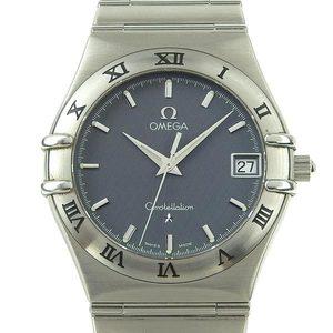 Omega Omega Constellation Mens Quartz Arm Watch Navy Dial 1512.4 Wrist