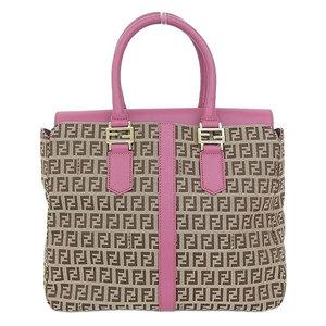 Fendi Fendi Zucker Pattern Canvas × Leather 2 Way Bag 8 Bn 228