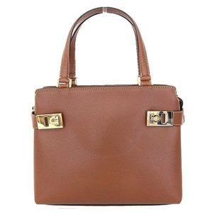 Salvatore Ferragamo Gantini 2 Way Handbag Tea Bag