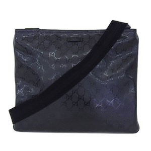 Gucci Gucci Imprime Gg Shoulder Bag Black Silver Hardware