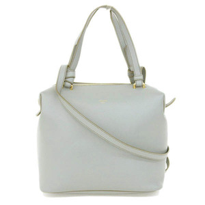 Celine Celine Pull Soft Cube Small 2way Bag Leather Gray