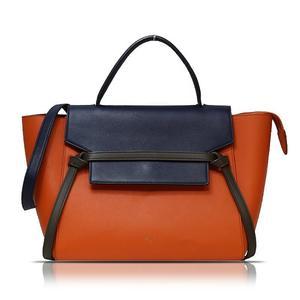 Celine Belt Bag Mini 175523 Orange × Navy Brown Handbag Women's