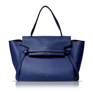 Celine Belt Bag Mini 176103 Royal Blue 2 Way Handbag Women's