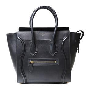 Celine Luggage Micro Shopper 167793 Black Handbag Ladies