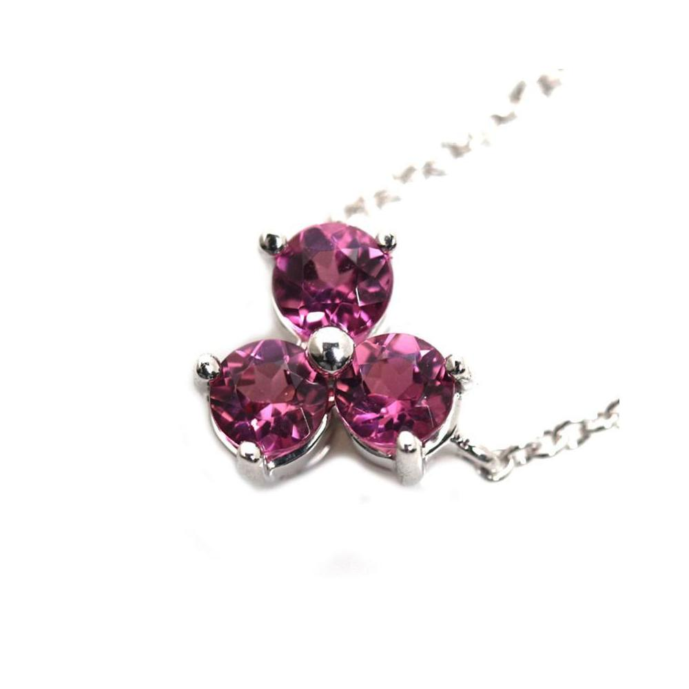 55496faae Tiffany & Co Aria Necklace K18wg Pink Tourmaline Ladies Pendant Jewelry  Finished