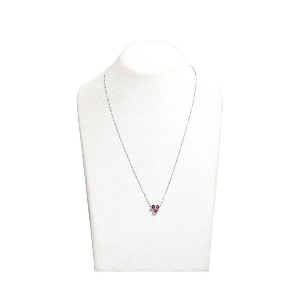 b5caa2f07 Tiffany & Co Aria Necklace K18wg Pink Tourmaline Ladies Pendant ...