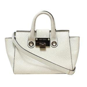Jimmy Choo 2way Handbag Ivory Ladies
