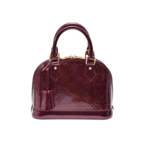 Used Louis Vuitton Vernis Alma Bb Rouge For Vist M91676 Ladies Bag With Strap ◇