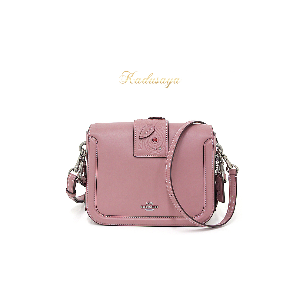 Coach Page Cross Body Grab Tan Leather With Tea Rose Touring Dusty 3 Way  Shoulder Bag   Suede ... e2ea1d4cfc964