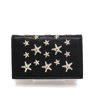 Jimmy Choo Cheung Star Studs Card Case Nero Nello Black Unused Item