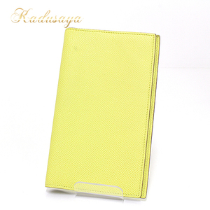Hermes Ajanda Cover Vision Eau Epson Souffle (Yellow Type) □ P Engraved (Made In 2012) Notebook