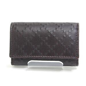 Gucci Diamante 6 Consecutive Key Case 138093 Brown Calf Leather