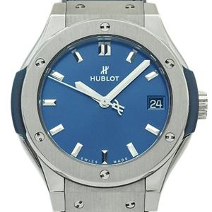 August 2016 Hublot Classic Fusion Titanium Ti 581 - Nx 7170 Lr Quartz Womens Blue Dial