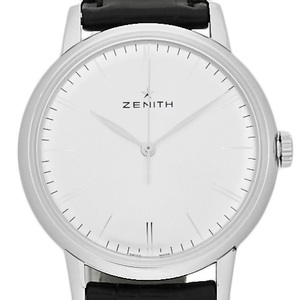 Zenith Elite 6150 03.2270.6150 / 01.c497 Men's Automatic Back Scale Silver Dial