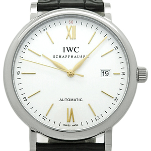May 2017 Purchased Goods Beautiful Goods! Iwc Portofino Iw 356517 Men's Automatic Silver Dial Face