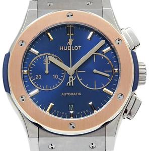 Hublot Classic Fusion Chronograph Pg / Ss Combination 521 - No 7180 Lr Men 'S Automa Back Scale Blue Dial
