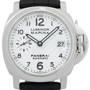 Panerai Panelai Luminor Marina Pam00049 Men's Automa J Number White Dial