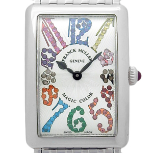 Domestic Regular Goods Frank Muller Long Island Magic Color 902 Qzmagiccolor Ac Stone Ladies Quartz Silver Dial Plate