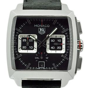 Tag Heuer Monaco Caliber 12 Cal 2113 Fc 6536 Chronograph Men's Automatic Black Character Board