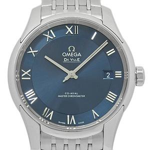 Omega De Ville Devil Hour Vision Co-axial Master Chronometer 433-10-41-21-03-001 Men's Automatic Back Scale Blue Dial