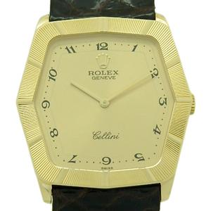K18yg Rolex Cherini 4170 E Hand Wound Gold Dial Board